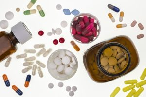 Selection of generic drugs used by doctors in the treatment of illness and disease.